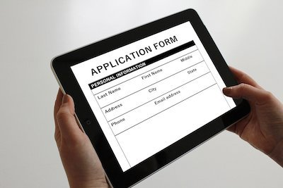 filling application form